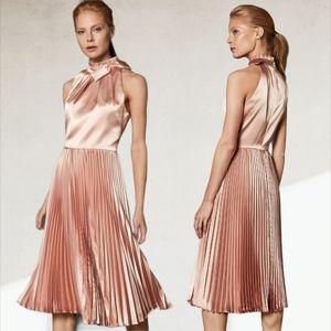 Ted Baker London Shineey Bow Pleated Midi Dress